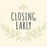 Closing May 27th at 1:00pm