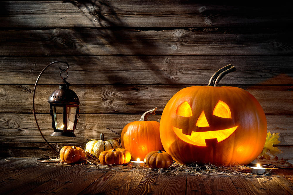 Jack-o'-lanterns were once made from turnips, beets and potatoes.