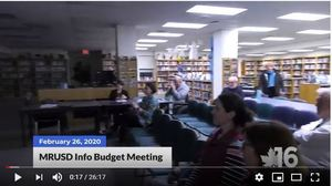 MRUSD Budget Information Meeting