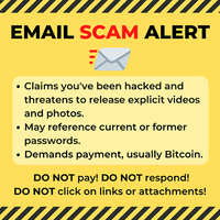 Scam Alert from the VT Attorney General's Office – Email Extortion Scam