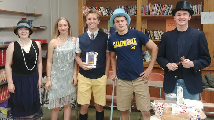 Left to right:  Julia Scott, Olivia Harrison, William Stoll, Tyler Laroche, and James Lowe.