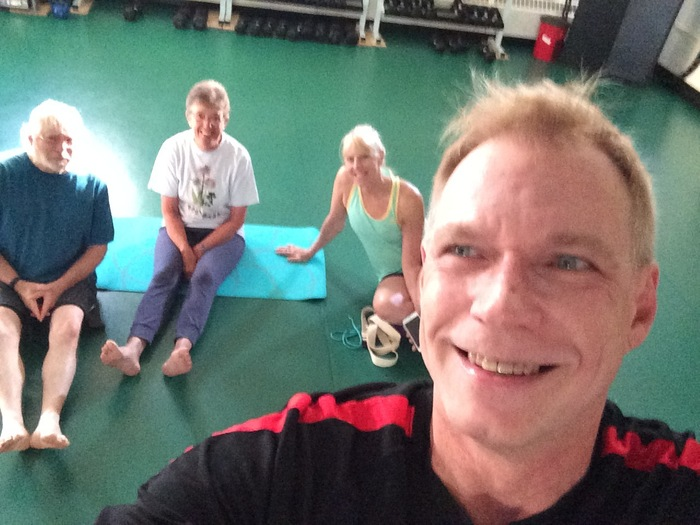 Gene with some of the Sunday morning Yoga crew
