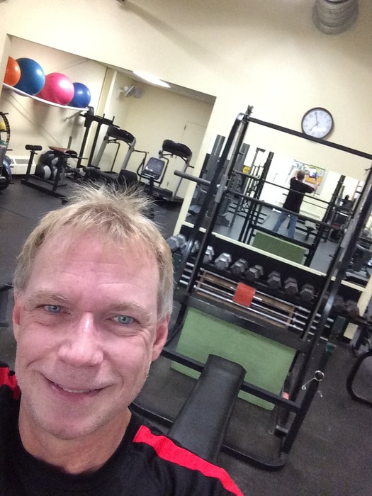 Gene in the fitness studio