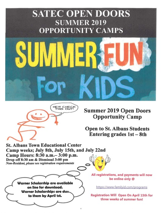 Summer Open Doors Save the Date
