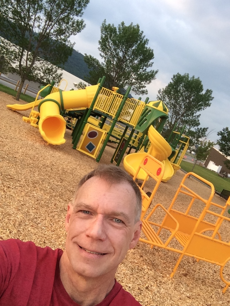 Saturday selfie on the playground!
