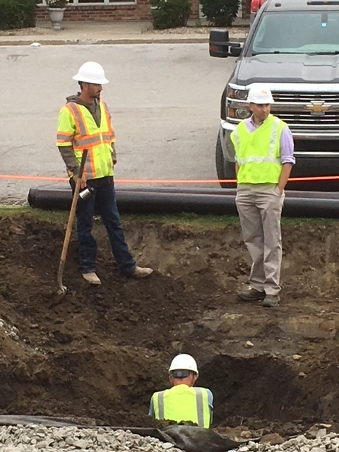 Chip Sawyer, St. Albans City, checks in often to be sure we are able to function throughout the construction.