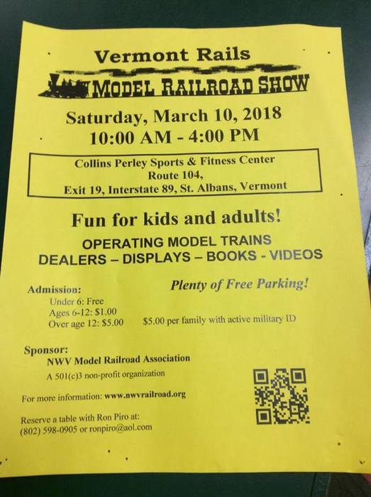 Setting up for the Model Railroad Show